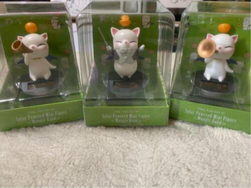 Final Fantasy XIV Moogle Music Band Horn Mini Solar Figure set 3 Taito