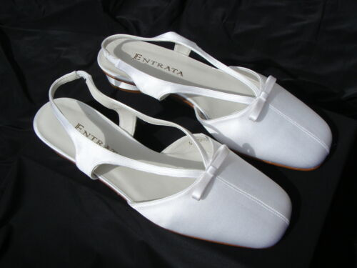 """NIB Dyeble White Open Toe 1.5/"""" inch CLOSED TOE FLATS shoes with BOWS L1"""