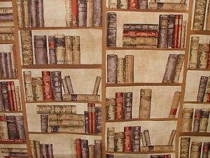 Vintage-Library-Books-Designer-Curtain-Upholstery-Prestigious-Quality-Fabric