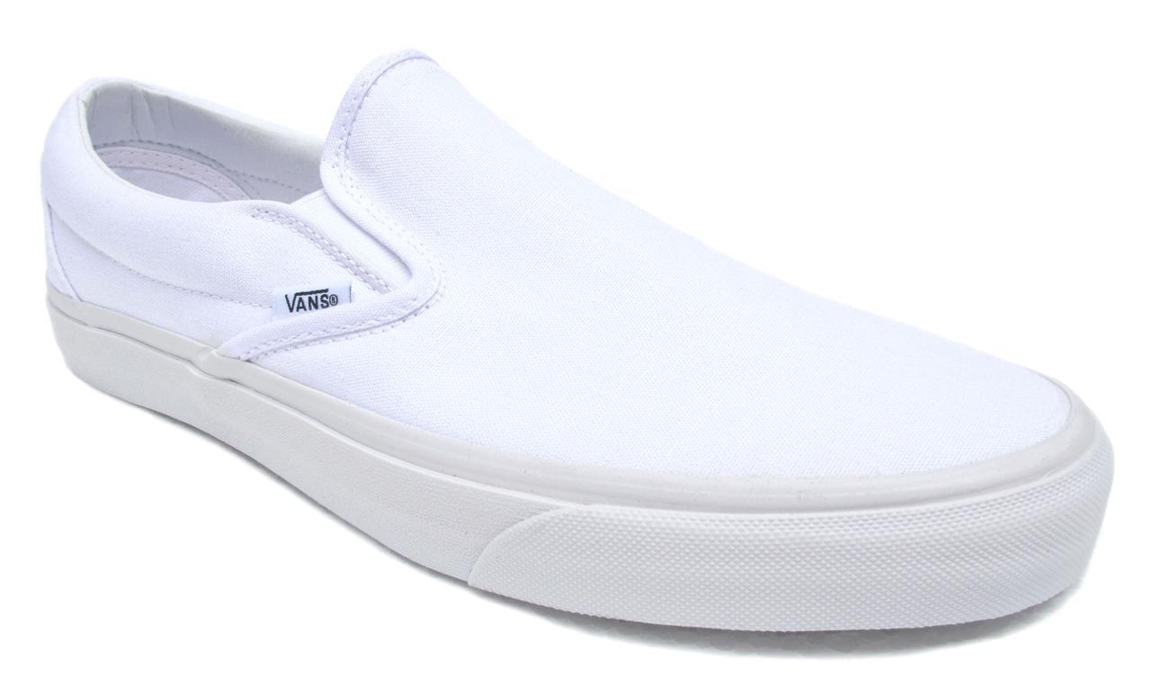 Vans Classic Slip On True blanc hommes Sneakers Tennis Chaussures Item VN000EYEWOO