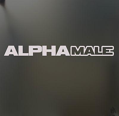 alpha male Sticker HUGE JDM slammed stance Funny drift lowered car window decal