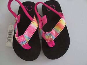 ec72ada71cf88 Details about NEW Girl Toddler Small   5 6  OP Flip Flops Sandals Swim  Shoes Pink Sparkle