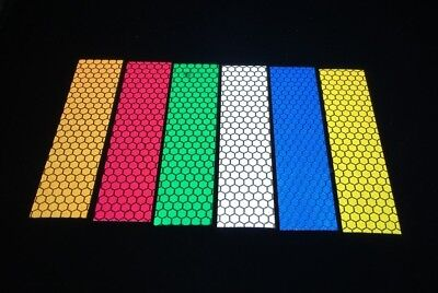 5 Pieces of White High Intensity Reflective Tape Self-Adhesive 50mm×200mm×5