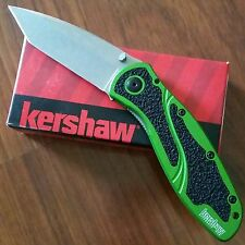 NEW Kershaw Blur Green Stonewashed Assisted Opening Knife (LIMITED ED)