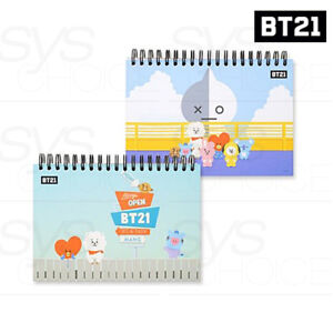 BTS-BT21-Official-Authentic-Goods-Drawning-Note-2SET-by-Kumhong-Fancy-Track