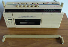 Vintage radio, Morphy Richards radio cassette recorder, LCD clock alarm.