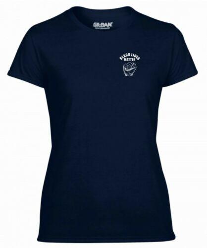 Black Lives Matter T Shirt Pocket Anti Racism Protest George Floyd Women Tee Top