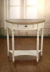 Image Is Loading EX DISPLAY Lamp Table Half Round Side Table
