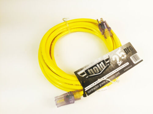 Bold 25/' 12//3 SJTW Contractor Grade ETL Listed Extension Cord with Lighted Ends