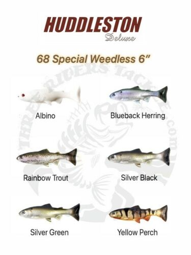 Huddleston Deluxe 68 Special Weedless Swimbaits Choose Pattern Rate of Fall