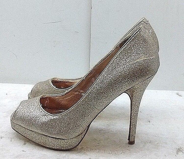 STEVE MADDEN Xtra femmes or Synthetic High Heel Pumps Peep Toe Casual chaussures 8.5M