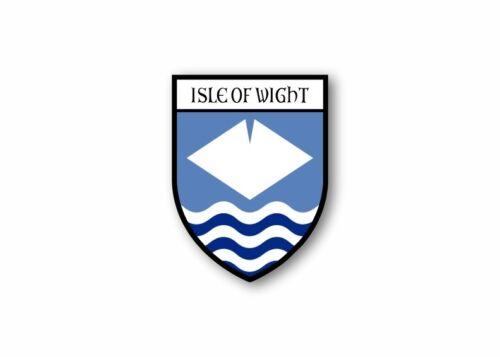 Sticker county shield car vinyl souvenir decal flag caravan isle of wight