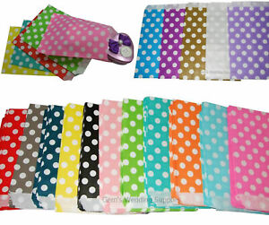 Small-Paper-Gift-Bags-x-24-Polka-Dot-For-Loot-Candy-Buffet-Wedding-Party-Favours