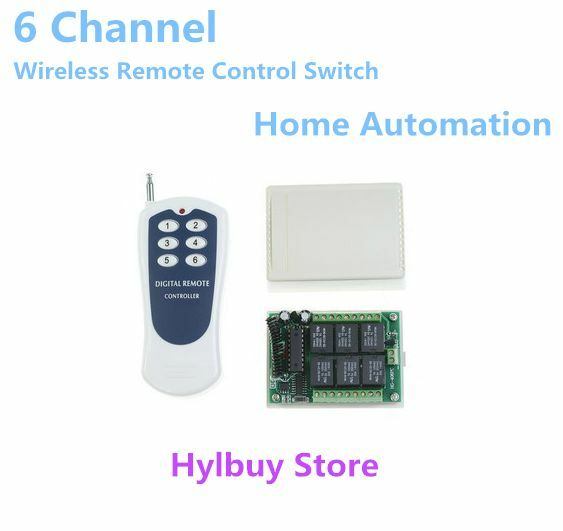 6-Way Wireless Remote Control RF Switch relay On/off for bulb Home Automation