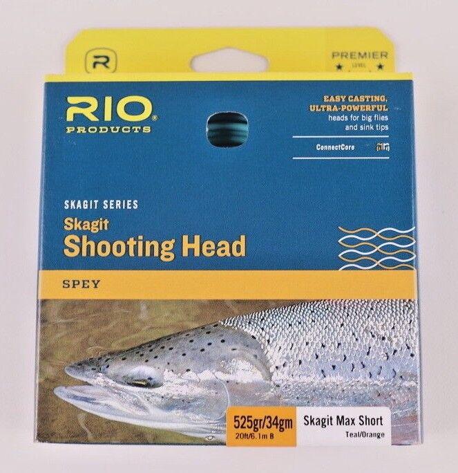 Rio Skagit Max Short 525 Grain De Tir Tête Gratuit Livraison rapide 6-20993