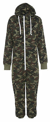 Hell Mens Ladies Kids Military 1onesie Unisex Camouflage Body Jumpsuit Army Hood