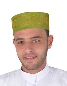 Arabe Traditionnelle Homme Couvre-chef Carnaval Bonnet En Vert - Kb0032