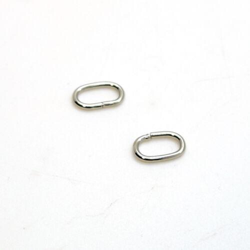 ANELLI DI METALLO OVALE loop filo formata FIBBIE Per Webbing Cinturino Nastro Bag 10-50 mm