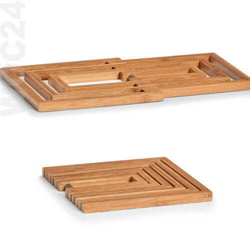 FALTBARER Holzuntersetzer Pfanne Topf Topfuntersetzer Untersetzer Bambus Holz