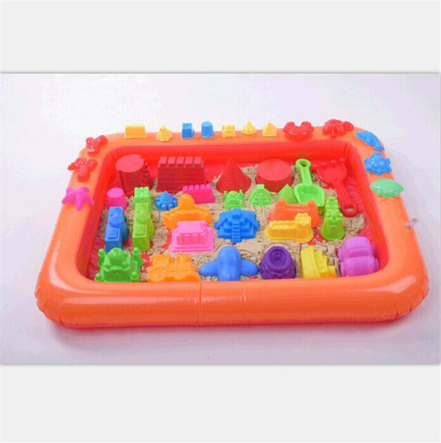 Inflatable Sand Tray Plastic Table Children Kids Indoor Playing Sand ClayToys DD