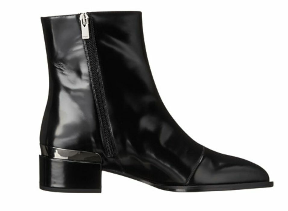 VINCE Black Yasmin Black Leather Metallic Plate Ankle Ankle Ankle Boots Bootie 6 Yarmon NEW f12096