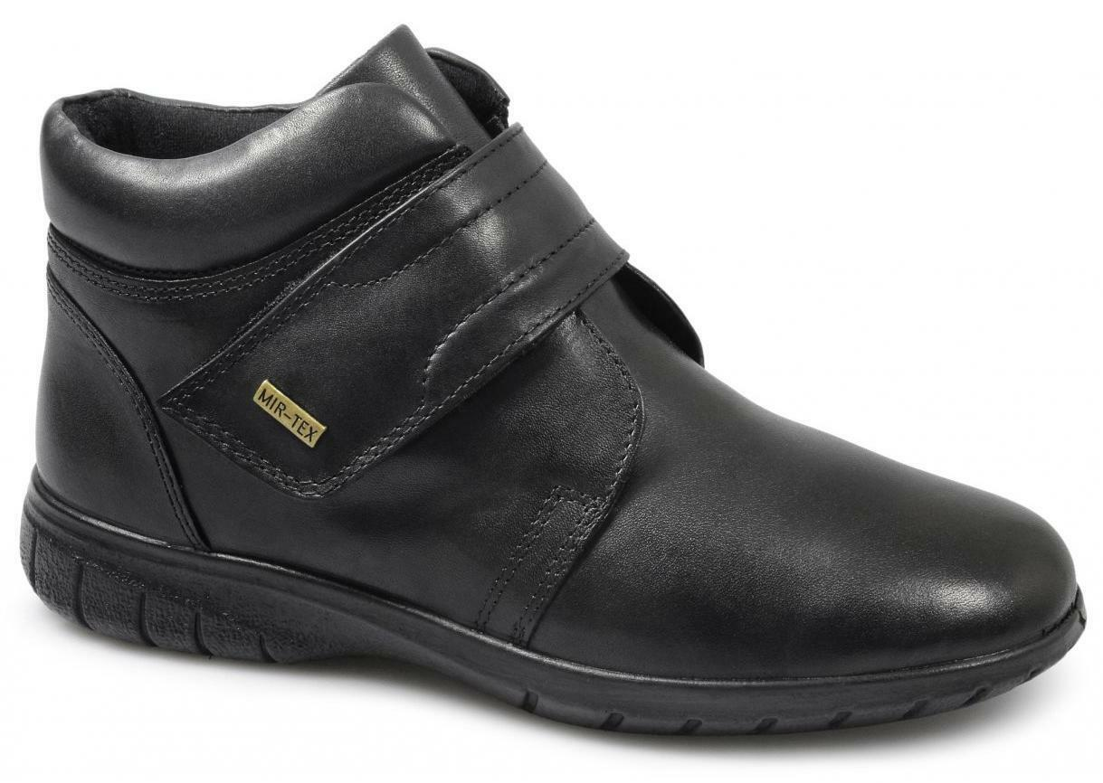 Cotswold chalford Para Mujer Damas Cuero Impermeable Acolchada Botines Negro