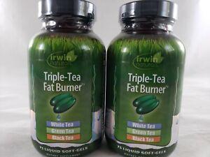 (Lot of 2) Exp 01/2021 Irwin Naturals Triple-Tea Fat Burner 75 Liquid Softgels