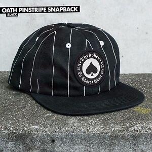 29fe17c98 Details about Thrasher Magazine UNSTRUCTURED OATH PINSTRIPE Snapback  Skateboard Hat BLACK
