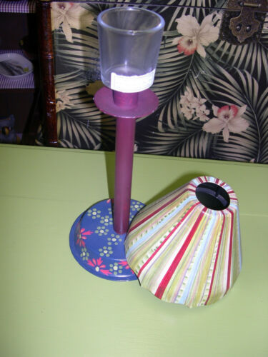 Tracy Porter Votive Candle Holder Lamps With Shades//Painted /& Arty