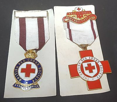2 British Red Cross Medals