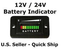 12v 12 Volt Marine Trolling Motor Battery Indicator Charge Status Power Meter...