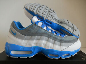 Details about NIKE AIR MAX 95 ID WHITE GREY BLUE SZ 10.5 [818592 995]