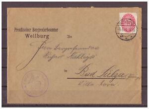 Deutsches-Reich-Dienstmarke-MiNr-118-EF-KBS-Weilburg-06-06-1930