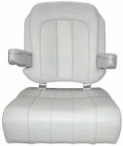 Boat / Marine Taco Metals HA3 Captiva Helm / Captains Chair Solid White |  EBay