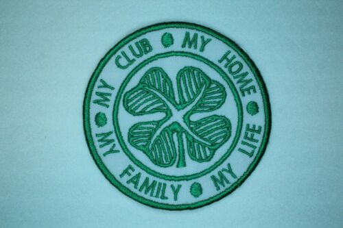 MY LIFE Iron on MY CLUB MY FAMILY CFC MY HOME sew on patch CELTIC