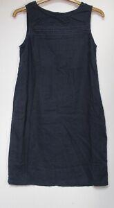 New-Next-Linen-Blend-Navy-Summer-Holiday-Shift-Dress-Size-6-22