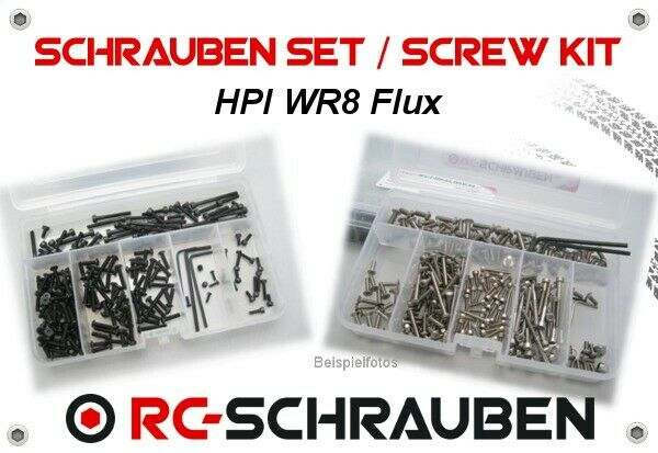 Screw Set for the HPI WR8 Flux - Stainless Steel & Steel - ISK & IS