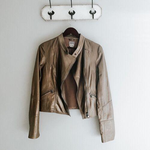 Haute Hippie Metallic Leather Jacket Size Medium