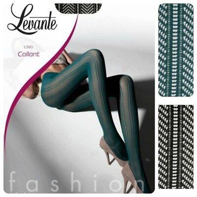 Affidabile Collant Levante Calza Fashion Retina Moda 50 Den E380 Verde Nero Lustro Incantevole