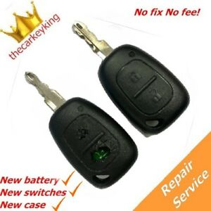 Vauxhall Vivaro 2 Button Remote Key Fob Repair Refurbishment Service Opel