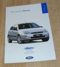Ford Focus Brochure 1998  Zetec 2.0 Ghia 1.8 TDDI LX 1.6 CL 1.4 16v