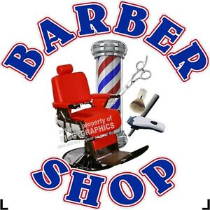 36-034-X-36-034-VINYL-DECAL-FOR-BARBER-SHOP-HAIR-DRESSER-WALL-OR-WINDOW-NEW