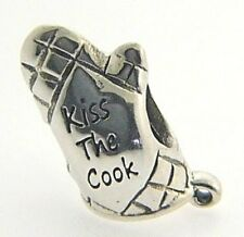 2010-3247 CHAMILIA STERLING SILVER KISS THE COOK OVEN MITT BEAD NEW RETIRED RARE