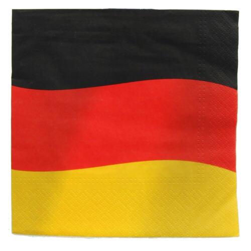 """33cm x 33cm Fanartikel Flagge Fahne WM 2018 50 80 Servietten  /""""Deutschland/"""""""