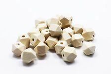 Geometric Wooden Bead Light Wood Color Hexagon Shape Geometry Small 12mm 20pcs