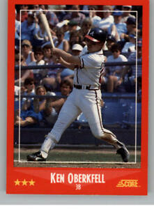 Details About 1988 Score Baseball Cards Pick From List Includes Rookies 245 491