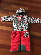 The North Face Snowsuit Boys Girls Red Grey Todd Insulated Jumps 3T NWT $149cool