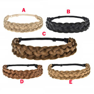 LADIES-BRAIDED-SYNTHETIC-PLAIT-PLAITED-ELASTIC-HAIR-BAND-HEADBAND-KYLIE-HAIRBAND