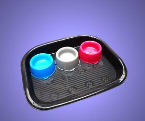 3-X-NAPFE-FUTTERSTATION-Wassernapf-Futternapf-Fressnapf-Hund-Katze-Zubehoer