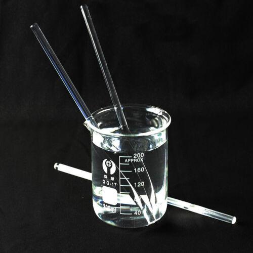 Glasrührstäbe Labor Klar Glas Rührstab Glass Stirring Rod Glasstab 5 x 150mm